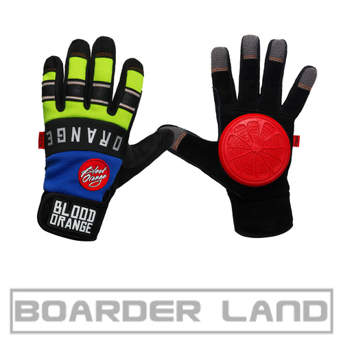 Knuckles Gloves Blue Neon L/XL